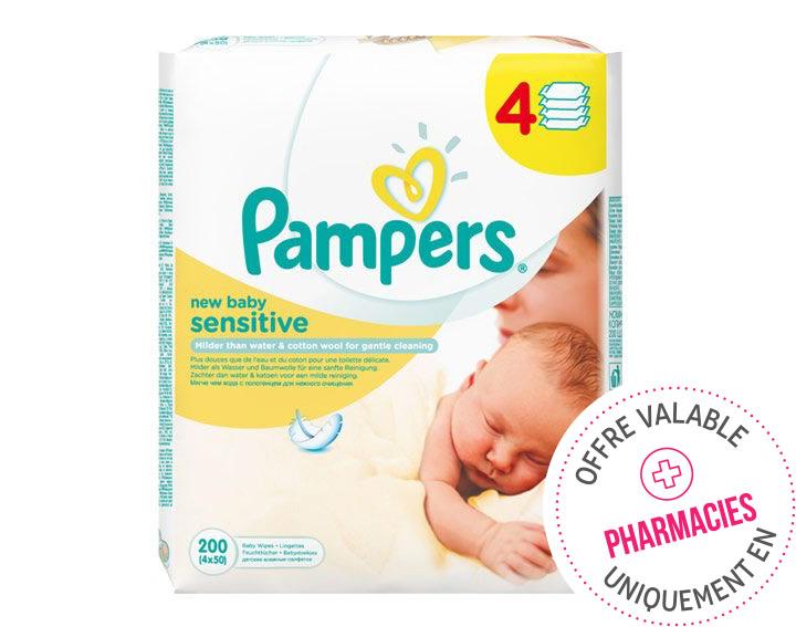 Lingettes New Baby Sensitive 4x50