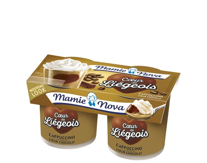 Cœur de Liégeois – Cappuccino cœur Chocolat