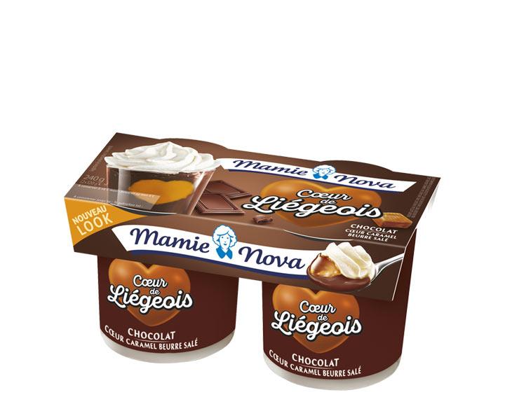 Cœur de Liégeois –  Chocolat cœur Caramel au beurre salé