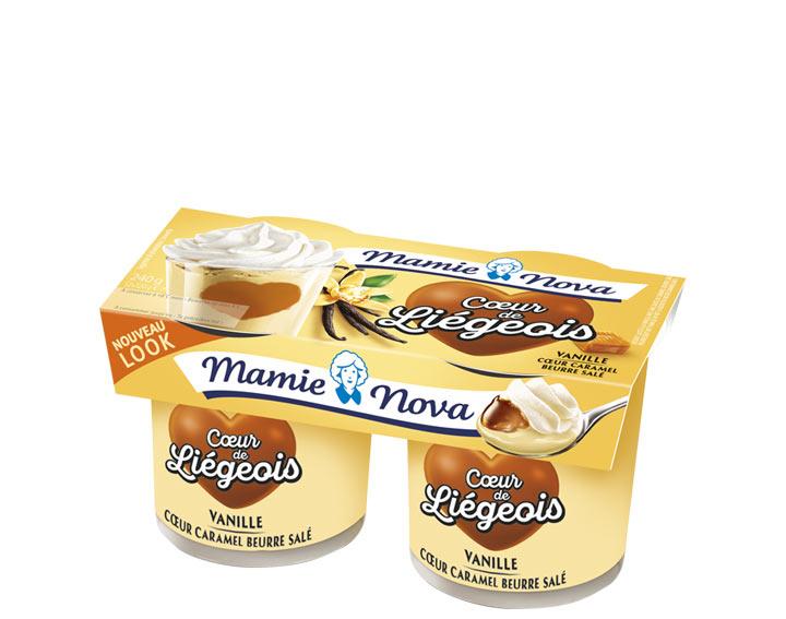 Cœur de Liégeois –  Vanille cœur Caramel au beurre salé