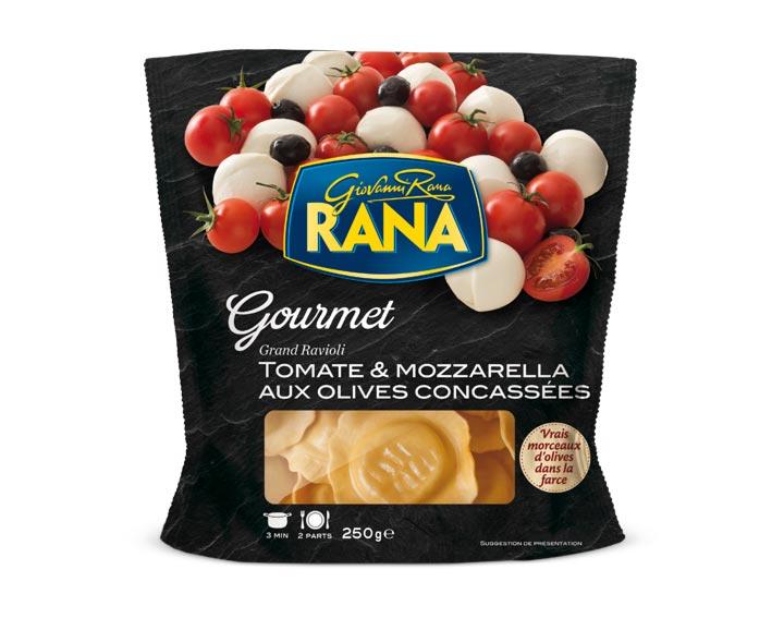 Grand Ravioli Tomate & Mozzarella aux Olives Concassées