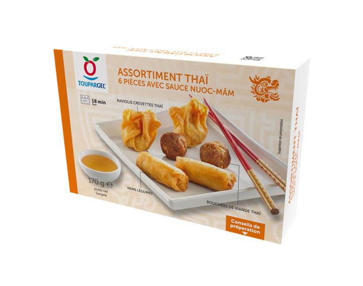 Assortiment Thaï (6 pièces avec sauce nuoc-mâm)