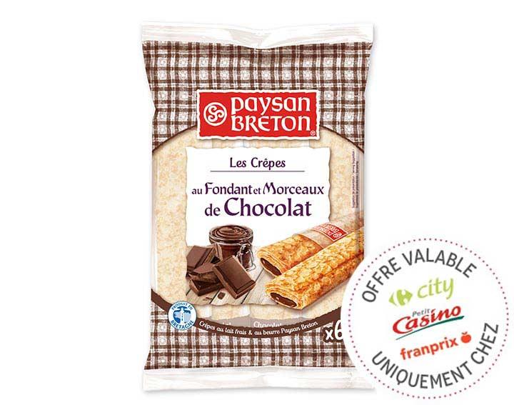 Crêpes Fourrées au Chocolat x6