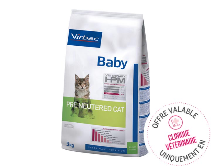 Baby - Pre Neutered (3kg ou 1,5kg)