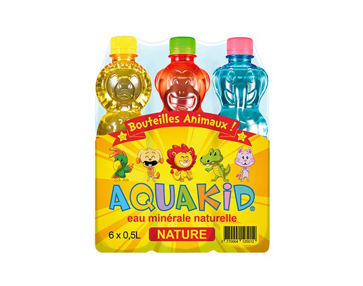 AQUAKID - Pack de 6 bouteilles de 0,5L