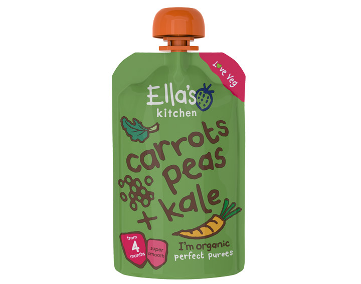 Carrots, Peas and Kale 120g
