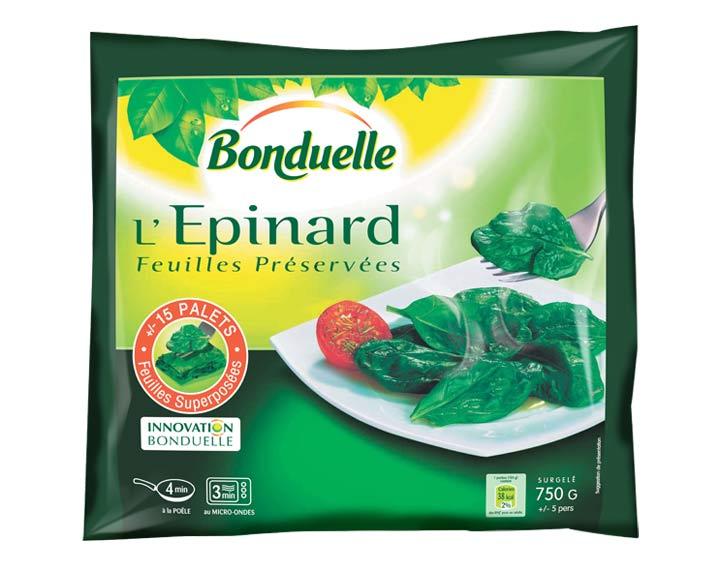 Epinard Feuilles Préservées 750g