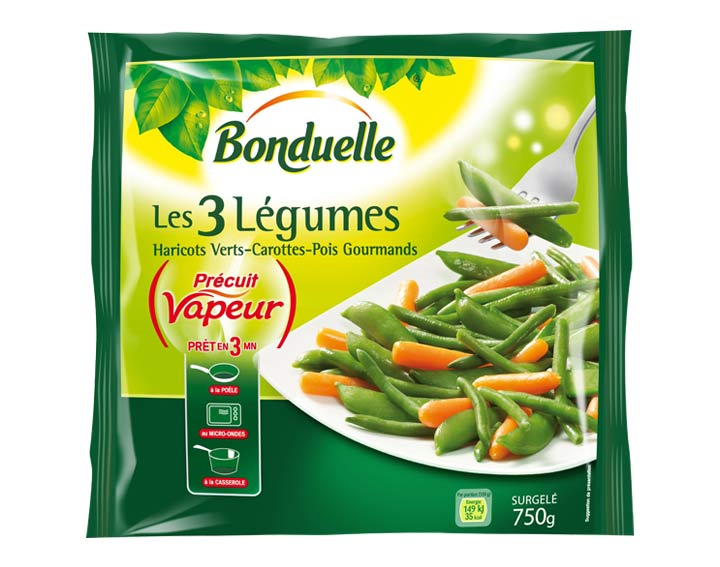 Haricots Verts, Carottes, Pois gourmands 750g