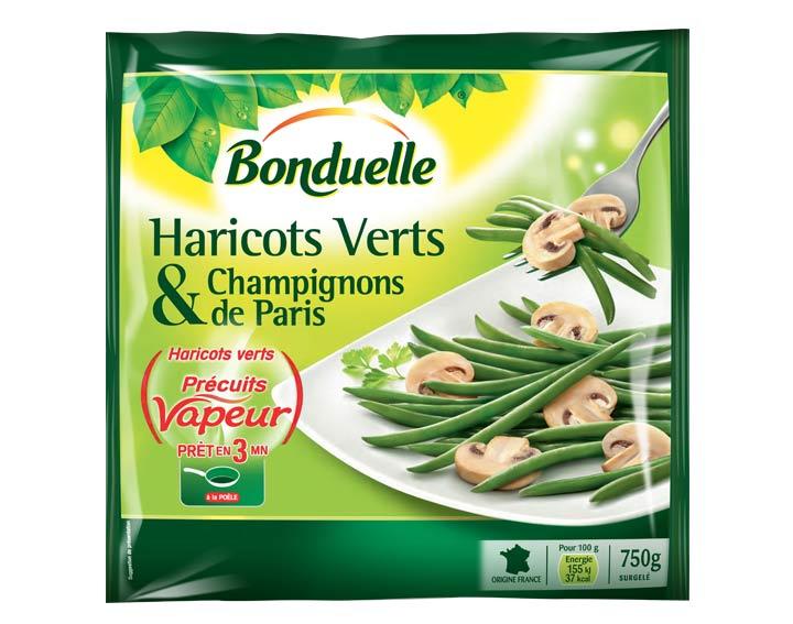 Duo Haricots verts & Champignons de Paris 750g