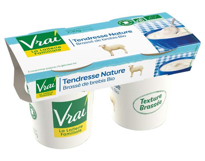 Yaourt Brassé Nature au lait de brebis Bio