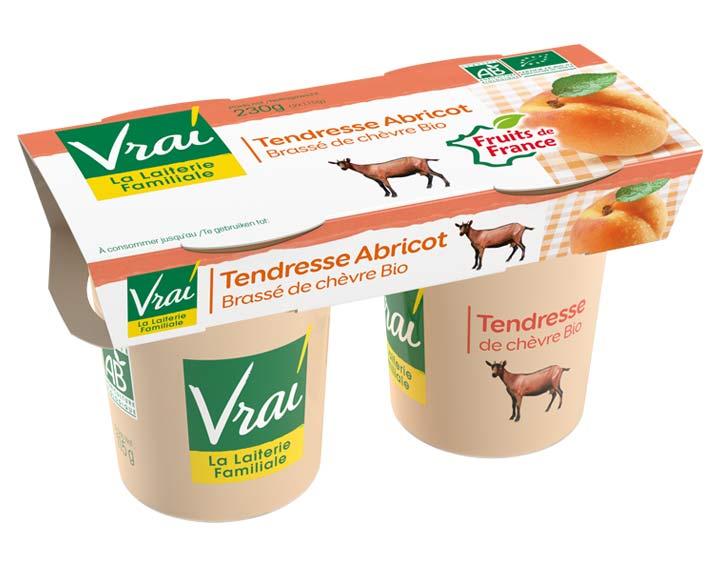 Yaourt Brassé Abricot au lait de chèvre Bio