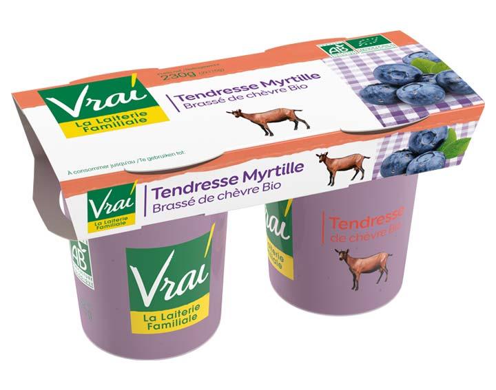 Yaourt Brassé Myrtille au lait de chèvre Bio