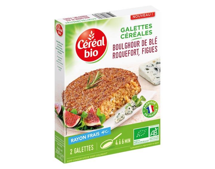 Galettes Céréales Boulghour de Blé Roquefort