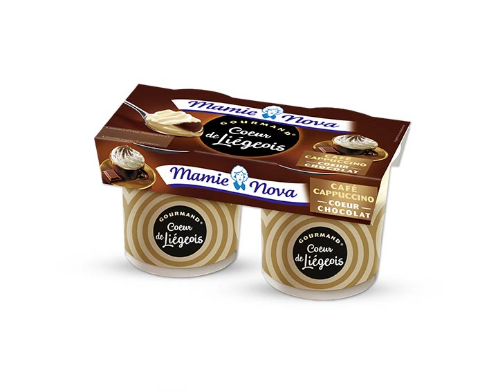 Cœur de Liégeois Café Cappuccino cœur chocolat