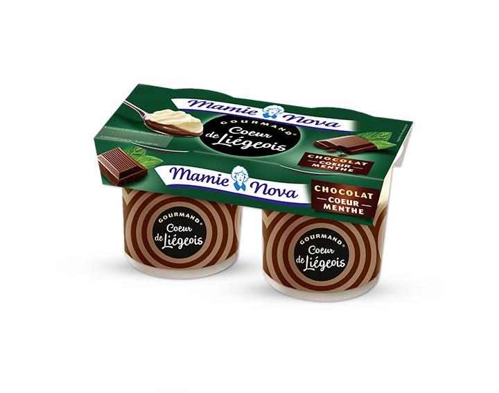 Cœur de Liégeois Chocolat cœur de menthe