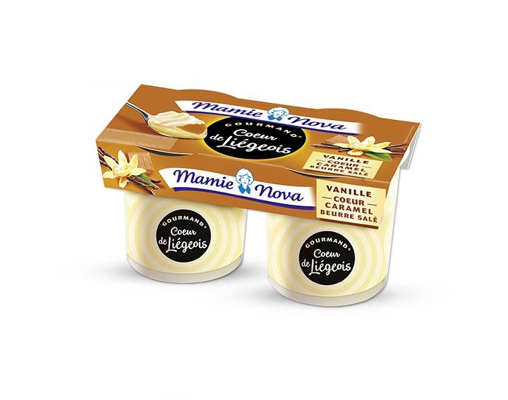 Cœur de Liégeois Vanille cœur caramel beurre salé