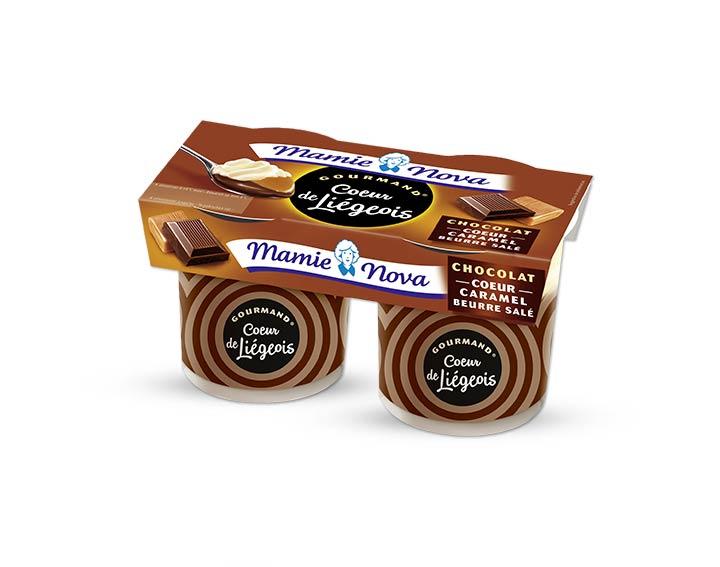 Cœur de Liégeois Chocolat cœur caramel beurre salé