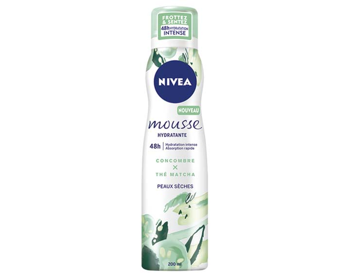 Mousse Hydratante Concombre x Thé Matcha