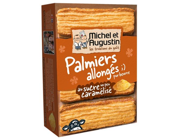 Palmiers allongés sucre caramelisé 120g