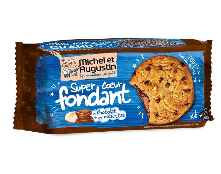 Cookies coeur fondant lait noisette 180g