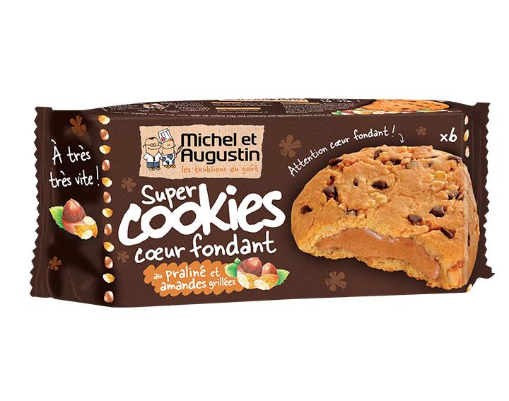 Cookies coeur fondant praliné amandes 180g