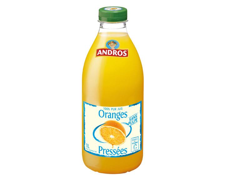 100% pur jus d'Oranges sans pulpe 1L
