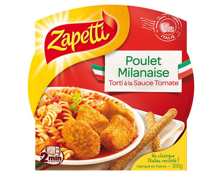 Poulet Milanaise Torti à la Sauce Tomate