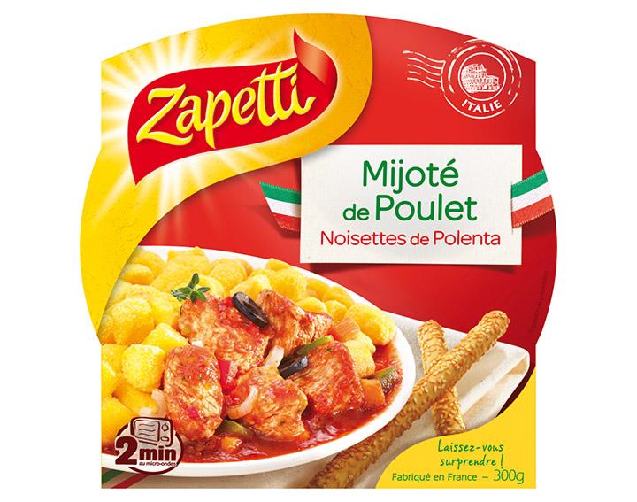 Mijoté de Poulet Noisettes de Polenta