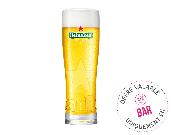 Heineken pression 25cl et 50cl