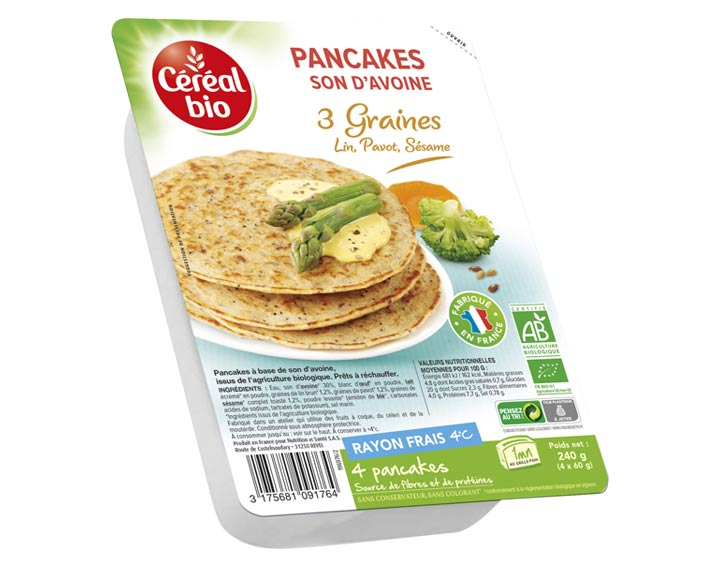 Pancakes Son d'Avoine 3 Graines