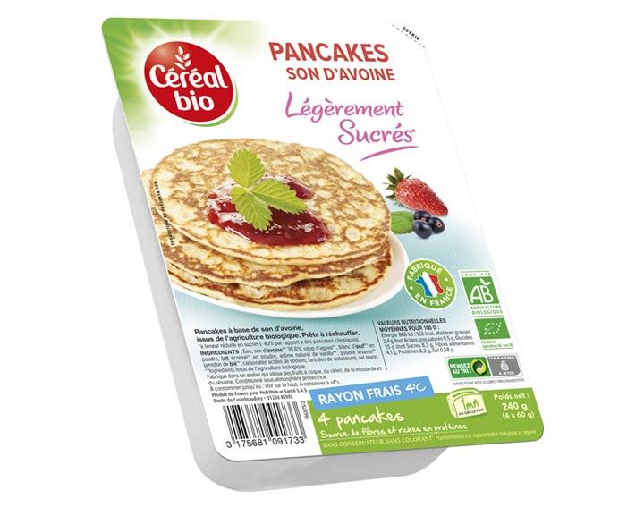 Pancakes Son d'Avoine Légèrement Sucrés