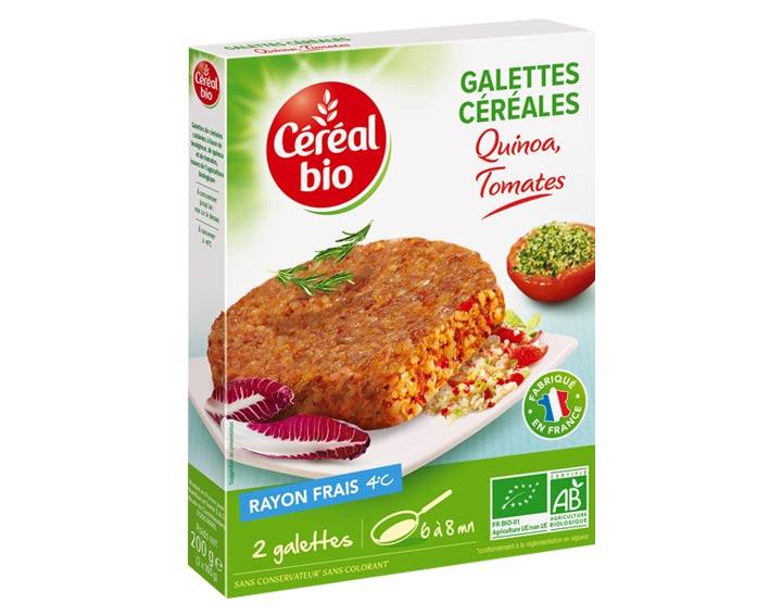 Galettes Céréales Quinoa, Tomates