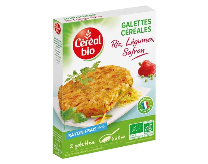 Galettes Céréales Riz, Légumes, Safran