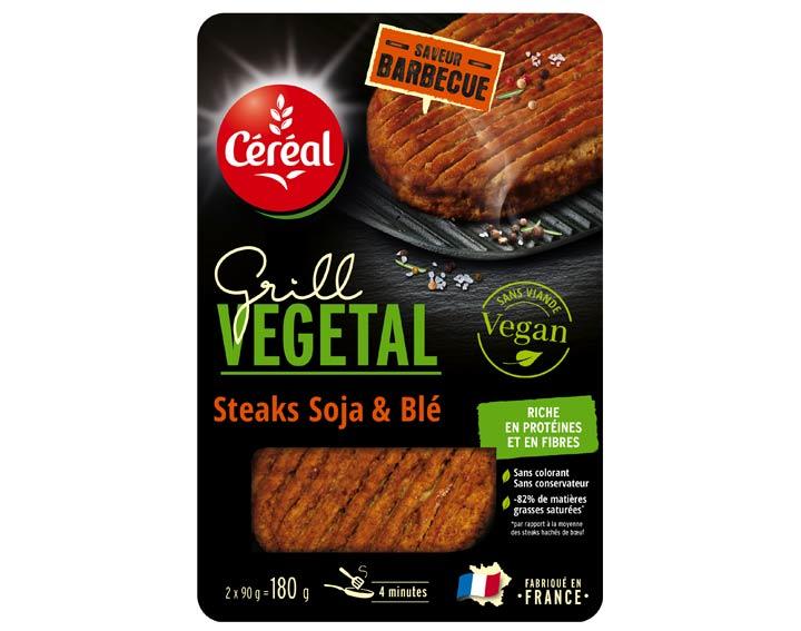 Steaks Soja et Blé Saveur Barbecue