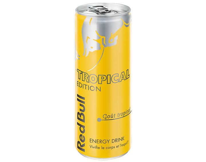 Red Bull Tropical Edition – Goût fruits tropicaux