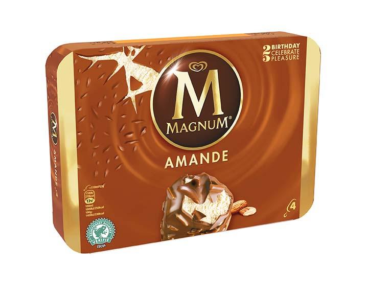 Magnum Vanille enrobage chocolat amandes