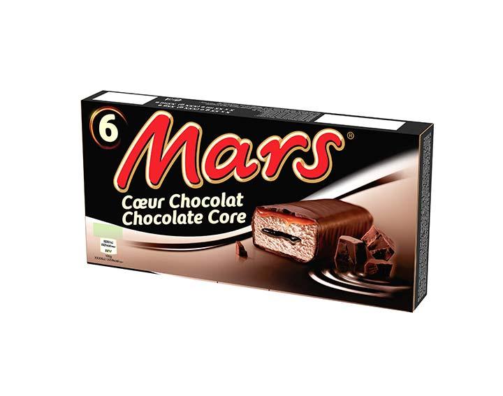 Barres glacées Mars coeur chocolat