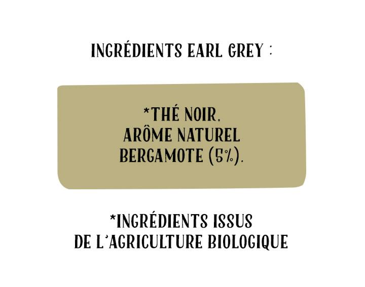 Ingrédients Thé Earl Grey