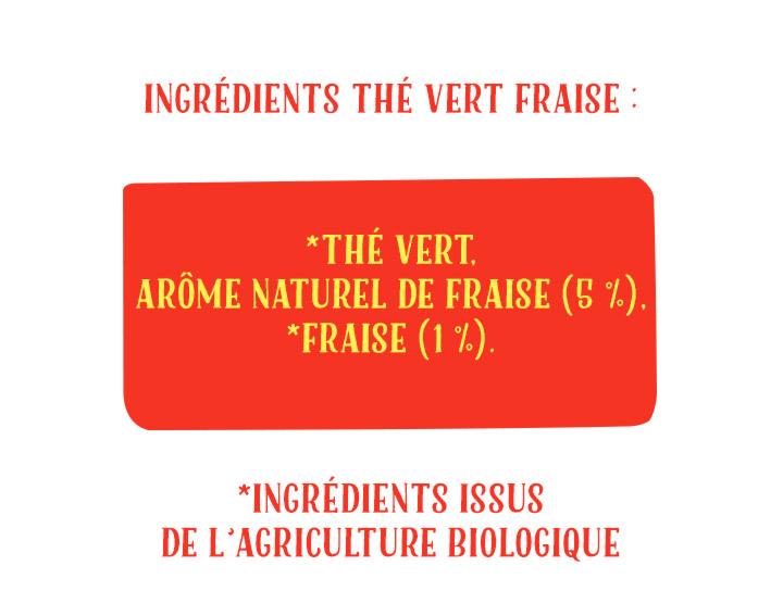 Ingrédients Thé Vert Fraise
