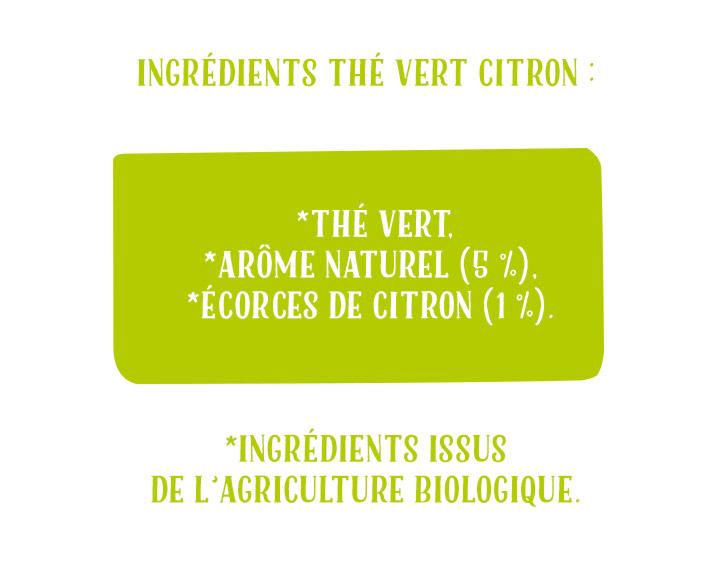 Ingrédients Thé Vert Citron