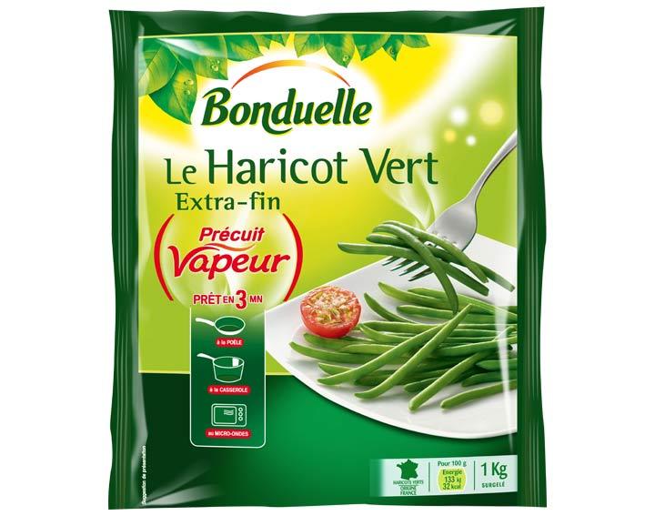 Haricot vert Précuit Vapeur 1kg