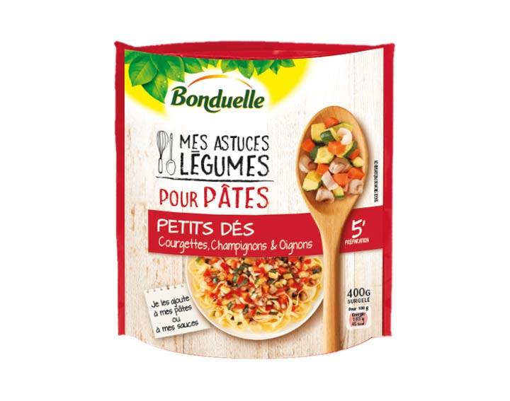 Pour pâtes – Courgettes, Champignons 400g