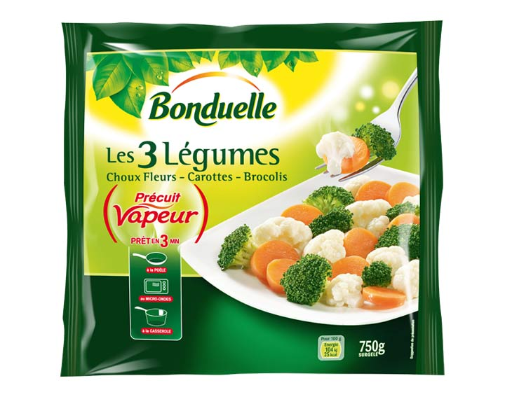 Choux-Fleurs, Carottes, Brocolis 750g