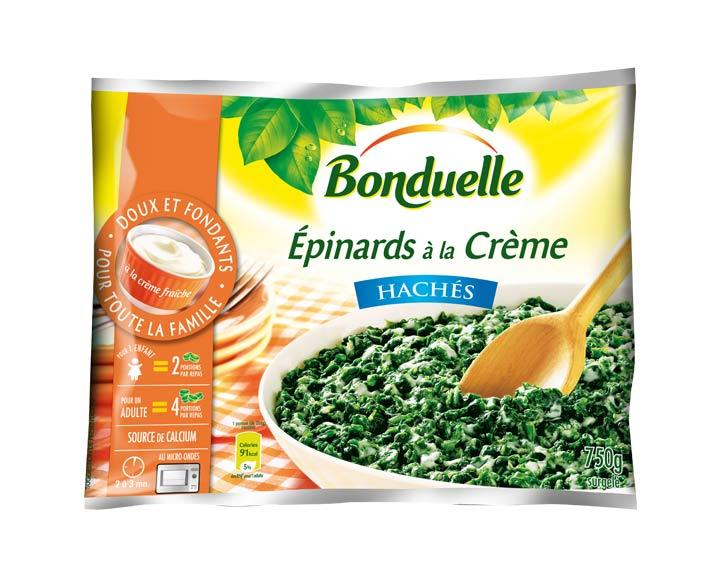 Epinards Hachés à la Crème 750g
