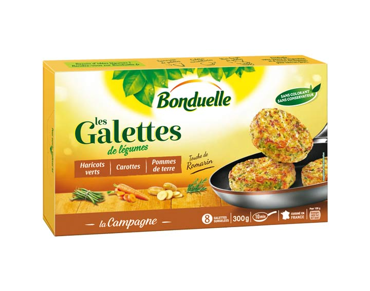 Galettes Haricots verts, Carottes 300g