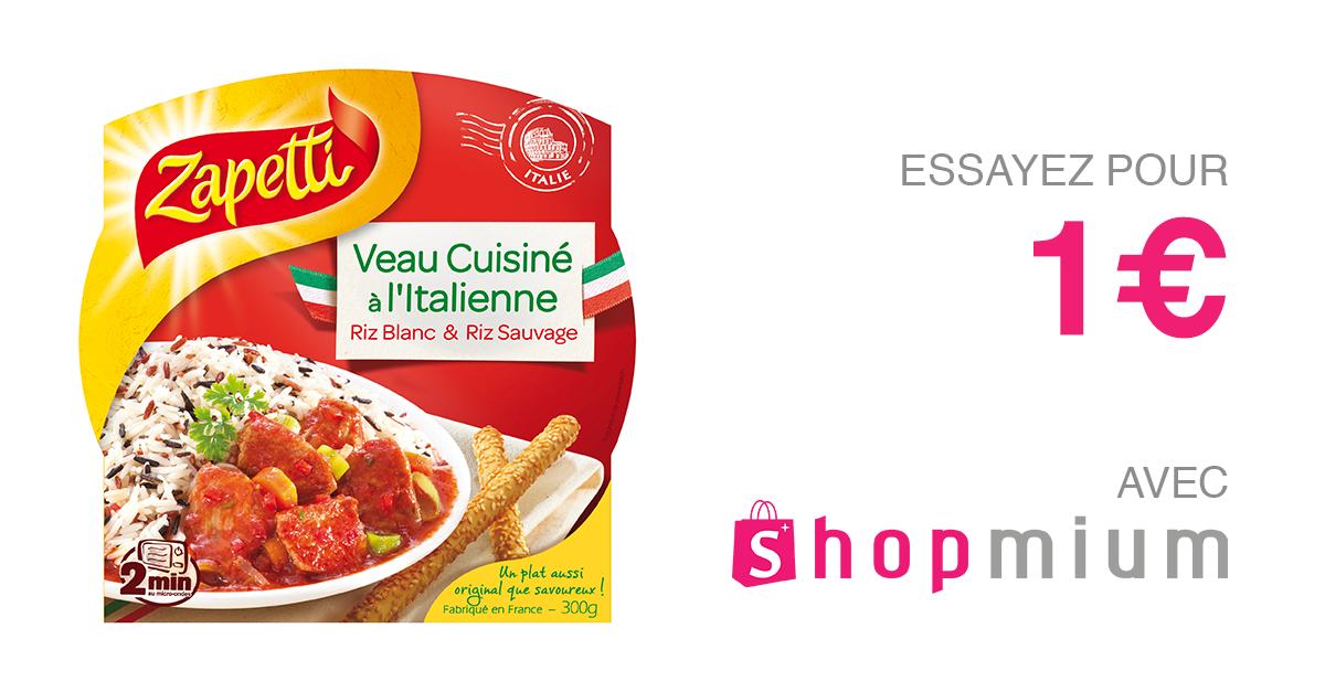 Shopmium veau cuisin l 39 italienne for Cuisine a l italienne