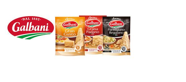 Les râpés italiens de Galbani