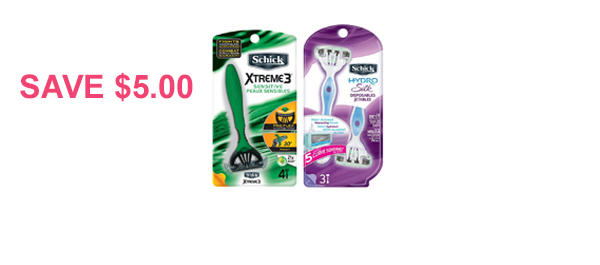 Schick® Disposable Razor Packs