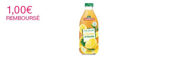 Andros - Thé infusé Citron et Menthe