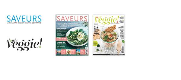 Les magazines Saveurs et Slowly Veggie